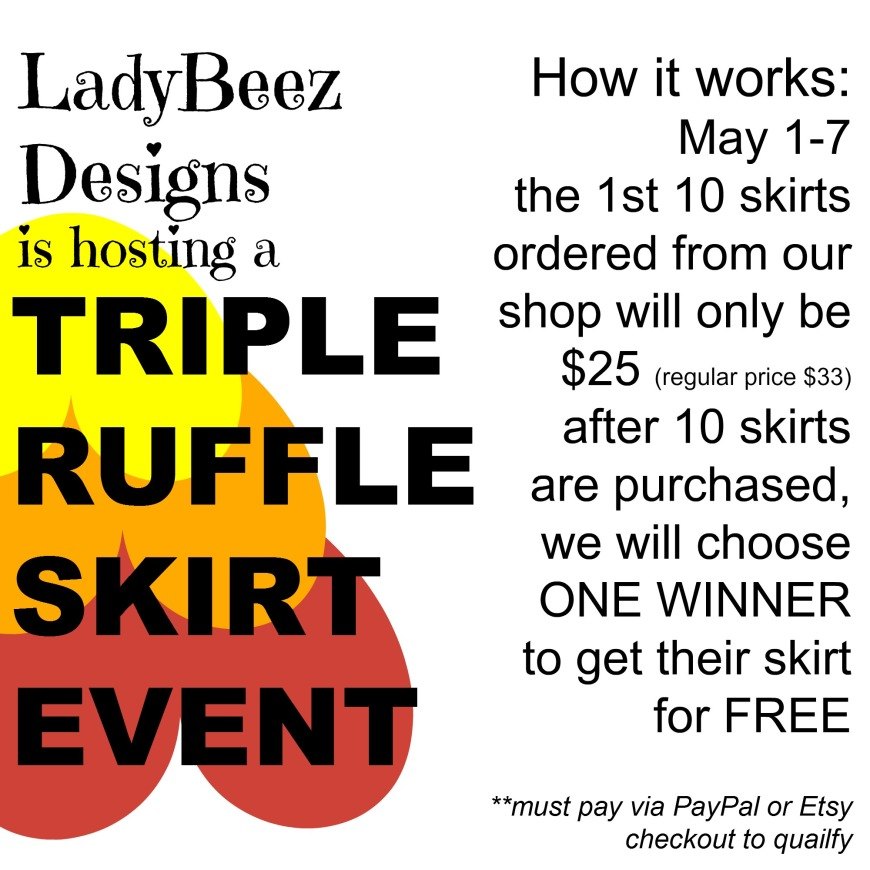 Triple Ruffle Skirt SALE!